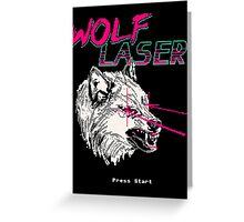 Wolf Laser Greeting Card