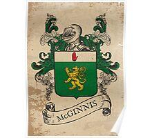 McGinnis Coat of Arms (Ireland) Poster