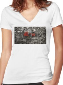 Montreal West side abadoned truck  Women's Fitted V-Neck T-Shirt