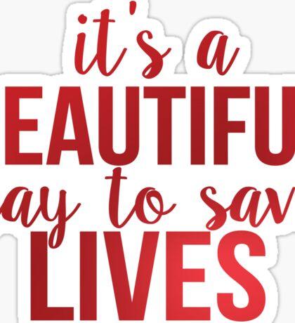 Grey's Anatomy McDreamy Quote 7 Sticker