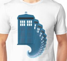 Tardis moving through time Unisex T-Shirt