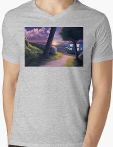 Path to Sunset Sea Mens V-Neck T-Shirt
