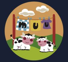 Laundy Cows One Piece - Long Sleeve