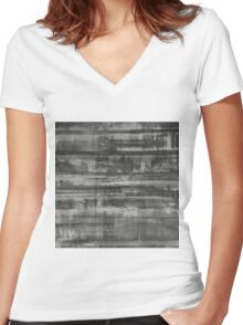 Simply Contrast 2 Study In Black and White Women's Fitted V-Neck T-Shirt