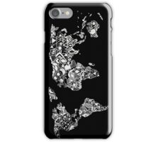World Map in a mathematician universe iPhone Case/Skin