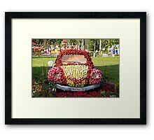 car decorated with flowers Framed Print
