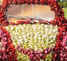 car decorated with flowers Sticker