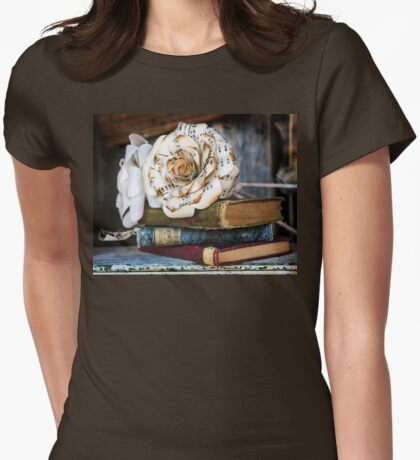 Paper Rose Womens Fitted T-Shirt