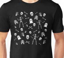 Skeleton Dance in Black Unisex T-Shirt