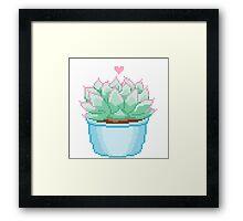 Pixel Cactus Framed Print