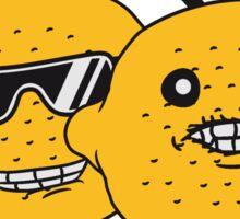 lemon tasty eat sour face sunglasses cool summer headphones music dj party club celebrate discounted team buddies Sticker