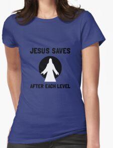 Jesus Saves Level Womens T-Shirt