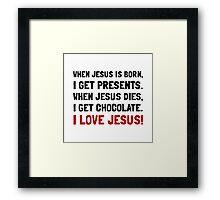 Love Jesus Framed Print