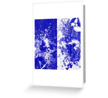 Inverted Blue On White Greeting Card