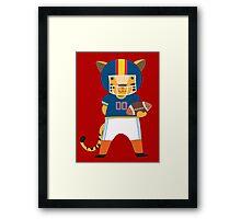 Cartoon Animals Sports Tiger Football Player Framed Print