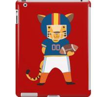 Cartoon Animals Sports Tiger Football Player iPad Case/Skin