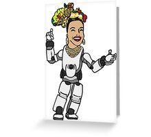 Carbon Miranda Greeting Card