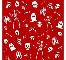 Skeleton Dance in Red Photographic Print