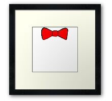 Red Bow Tie Framed Print
