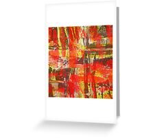 Burning Fire Abstract Painting Greeting Card