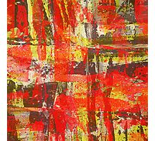 Burning Fire Abstract Painting Photographic Print
