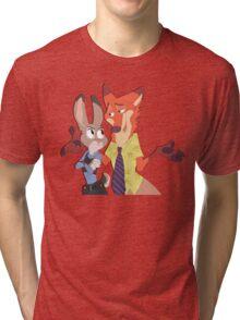 sly fox dumb bunny Tri-blend T-Shirt