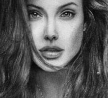 Angelina Jolie's portrait Sticker