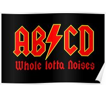 ABC a heavy metal parody funny Poster