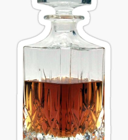 Whiskey Decanter (cut out image) on white background Sticker
