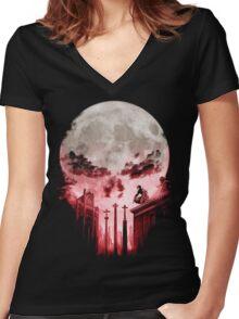 The Devil's Punishment Women's Fitted V-Neck T-Shirt