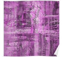 Abstract Study in Purple, pink and black Poster