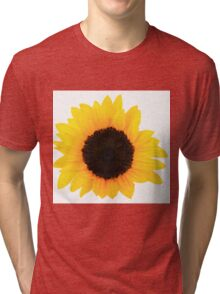 Sunflowers Single Bloom Tri-blend T-Shirt