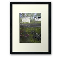 My Backyard - En plein air  Framed Print