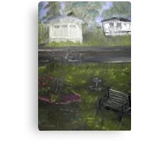 My Backyard - En plein air  Canvas Print
