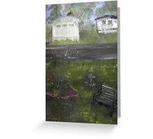 My Backyard - En plein air  Greeting Card
