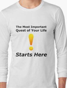 Warcraft The Most Important Quest - World Nerd Gamer Geek Long Sleeve T-Shirt