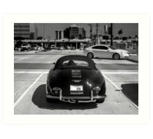 Porsche 1600 Speedster (Black) Art Print