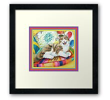 """I am magnificent, from the childrens book """" The magnificent cat"""" by Sharon Thompson available on amazon Framed Print"""