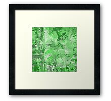 Abstract Study In Green Framed Print