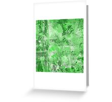 Abstract Study In Green Greeting Card