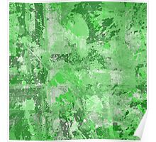 Abstract Study In Green Poster