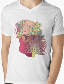 Lilies in the box Mens V-Neck T-Shirt