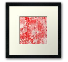 Abstract Study In Red Framed Print