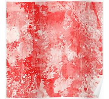 Abstract Study In Red Poster