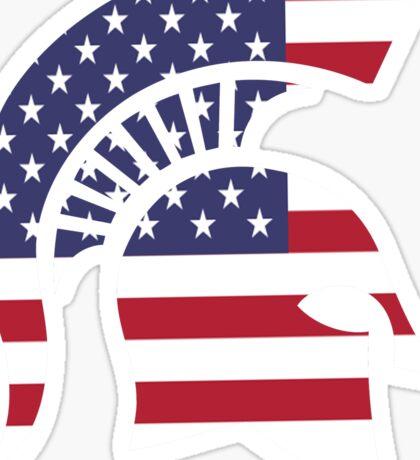 michigan state university michigan spartans MSU american flag america Sticker