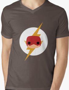 Flash Vinyl Face Mens V-Neck T-Shirt