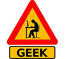 Geek alert Photographic Print