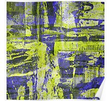 Abstract Study In Blue And Yellow Poster