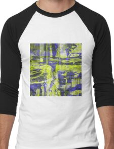 Abstract Study In Blue And Yellow Men's Baseball ¾ T-Shirt
