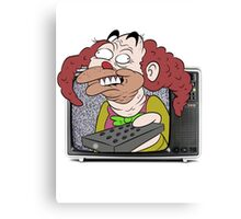 CLOWN TV ! Canvas Print